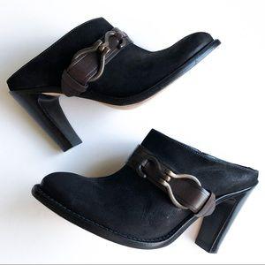Cole Haan Nike Air Suede Pointed Heel Clogs 7.5 B